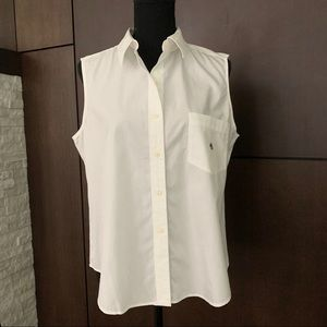 Lauren Ralph Lauren white sleeveless shirt Large